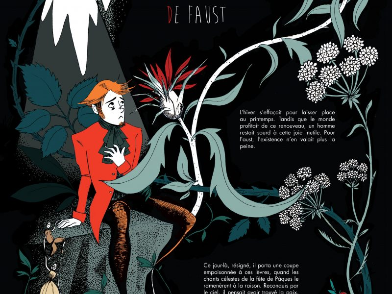 Faust, illustration. Elléa Bird, illustratrice, Lyon.