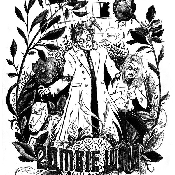 Zombie Who pour AOA ProdFaust, illustration. Elléa Bird, illustratrice, Lyon.