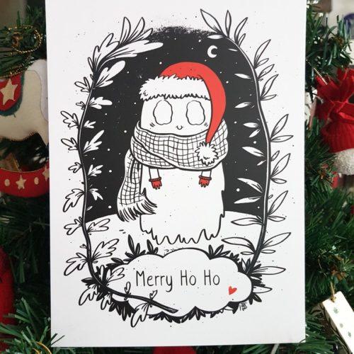 Christmas Ghost card - Elléa Bird