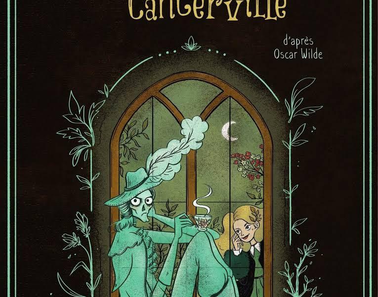 Couverture de l'adaptation en BD du Fantôme de Canterville d'Oscar Wilde par Elléa Bird
