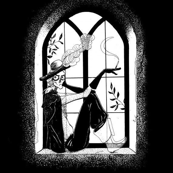 The Canterville Ghost, Oscar Wilde, illustration. Elléa Bird, illustratrice, Lyon.