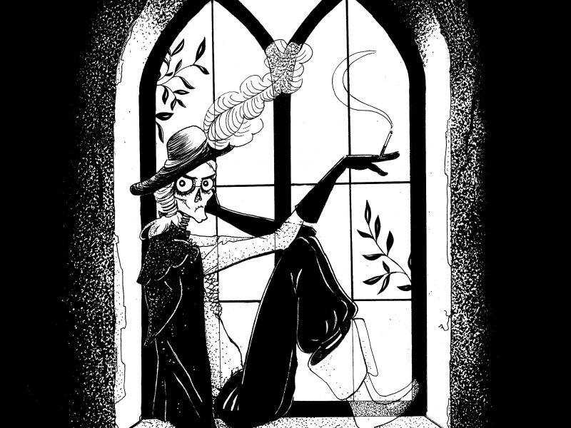 The Canterville Ghost, Oscar Wilde, illustration. Elléa Bird, illustratrice, Lyon.