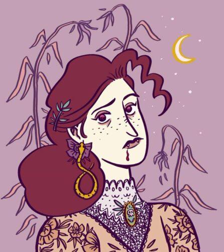 Vampire - Illustration, Elléa Bird