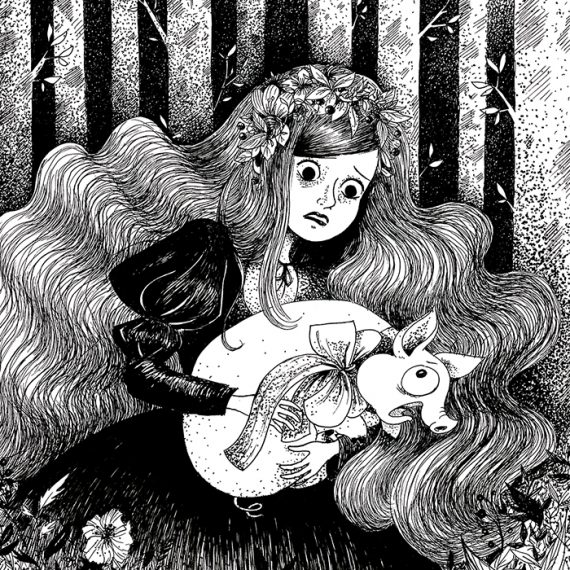 Alice, illustration. Elléa Bird, illustratrice, Lyon.