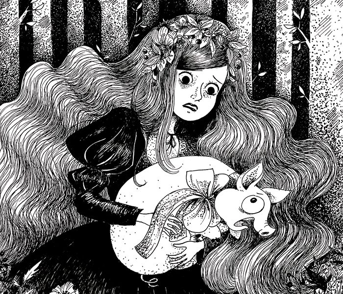 Alice, illustration. Elléa Bird, illustratrice, Lyon.