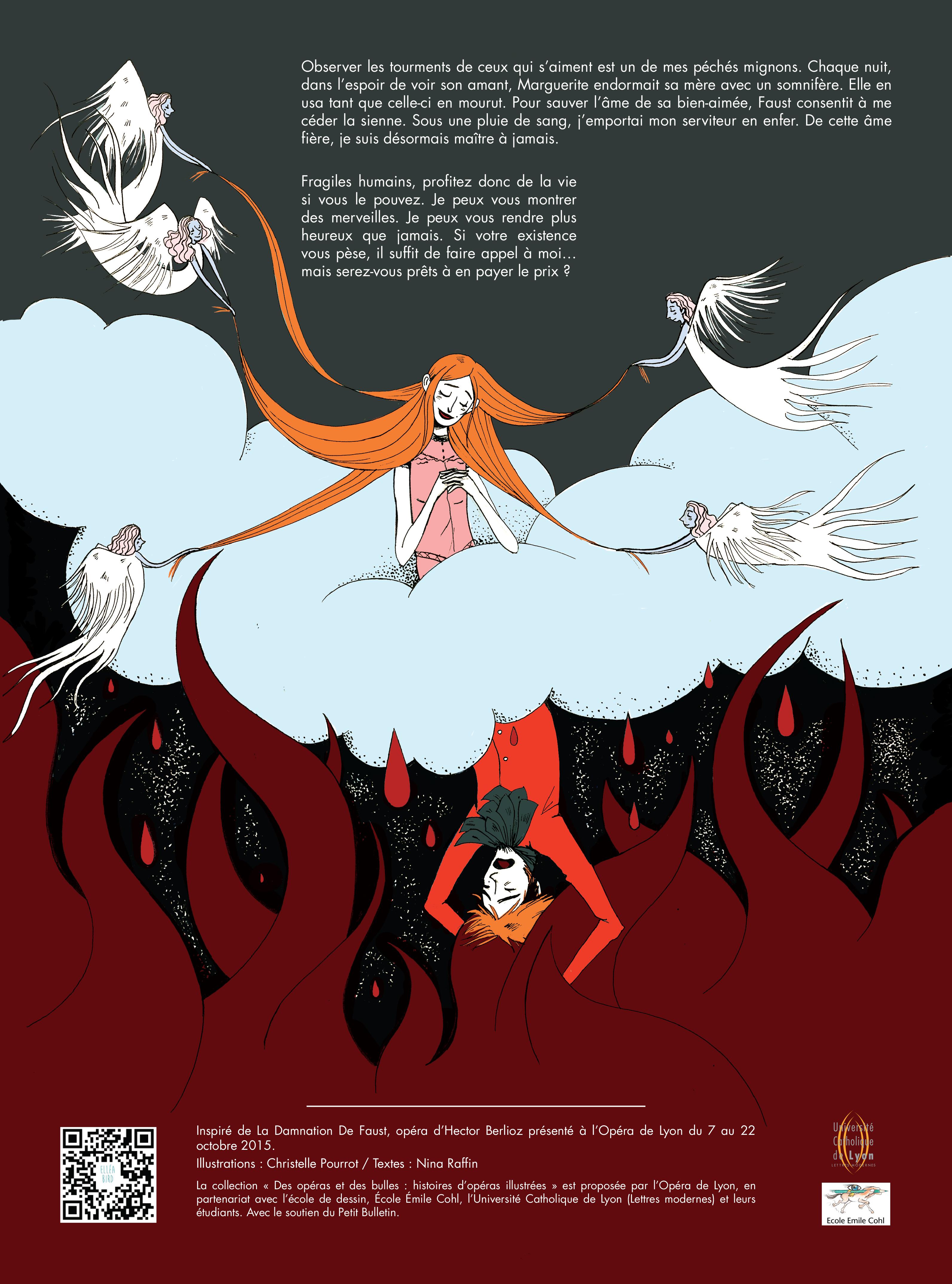 Faust, illustration. Elléa Bird, illustratrice, Lyon.