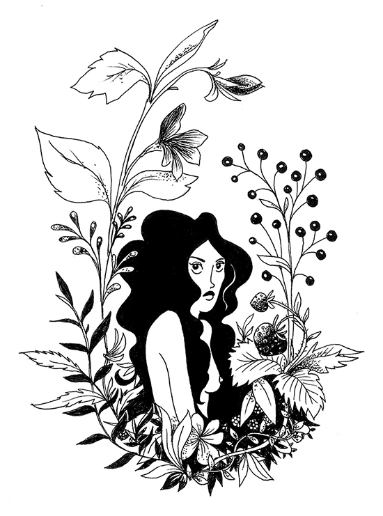 Eve, illustration. Elléa Bird, illustratrice, Lyon.