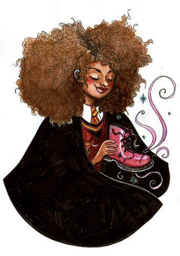 Hermione Granger, illustration. Elléa Bird, illustratrice, Lyon.