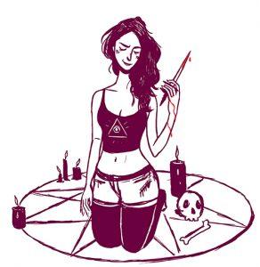 Ritual killing, daily spitpaint, illustration. Elléa Bird, illustratrice, Lyon.