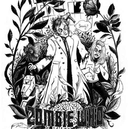 Zombie Who pour AOA ProdFaust, illustration. Elléa Bird, illustratrice, Lyon.