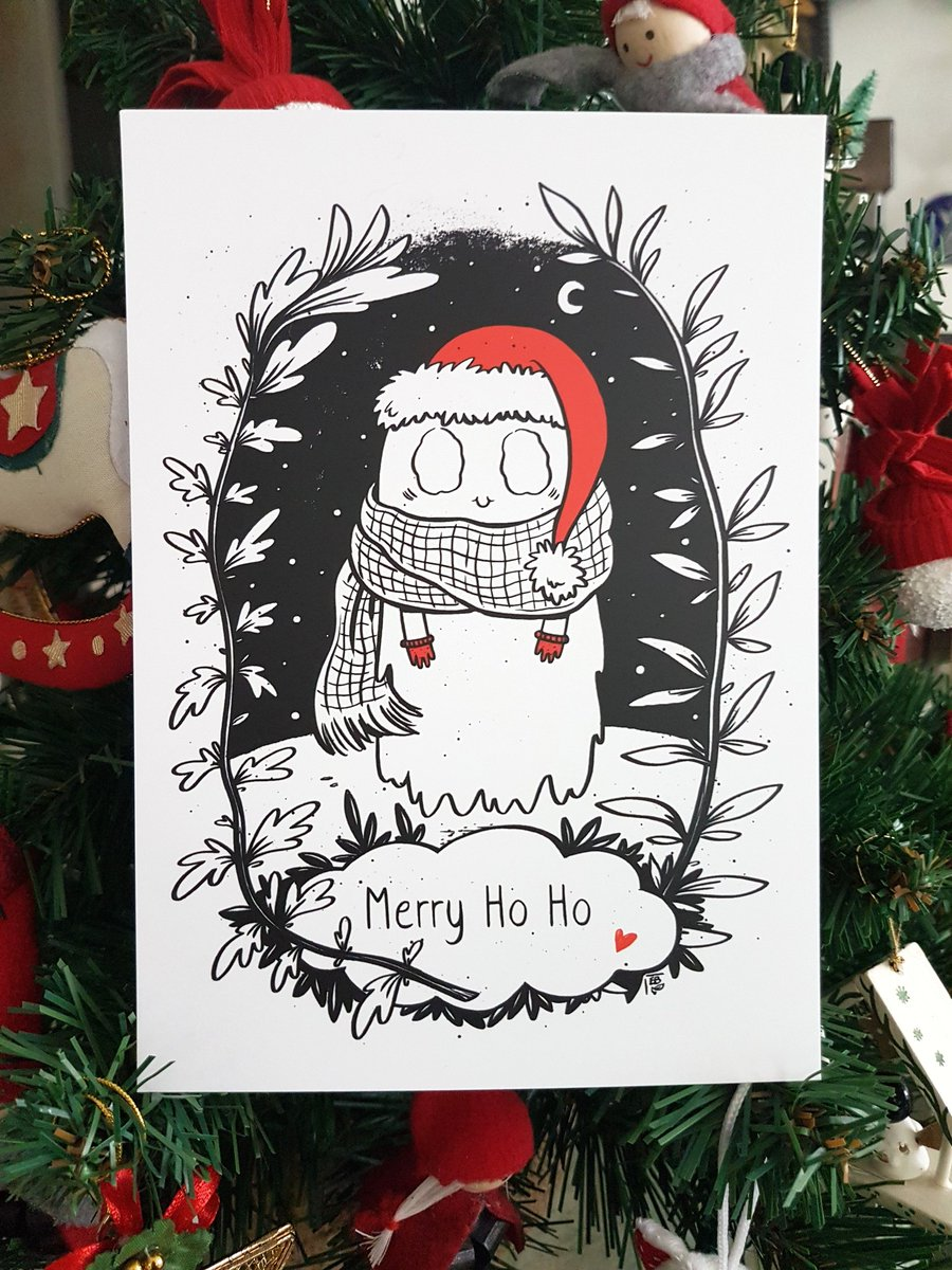 Christmas Ghost card - Elléa Bird
