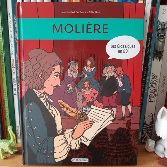 Les Classiques en BD : Molière, biographie, Casterman jeunesse. Scénario Jean-Michel Coblence, dessin Elléa Bird.