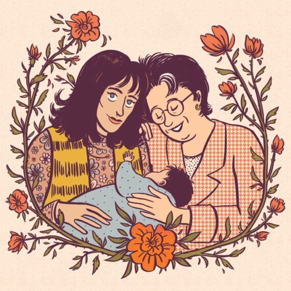 Hippie Trail, portrait de famille - illustration Elléa Bird