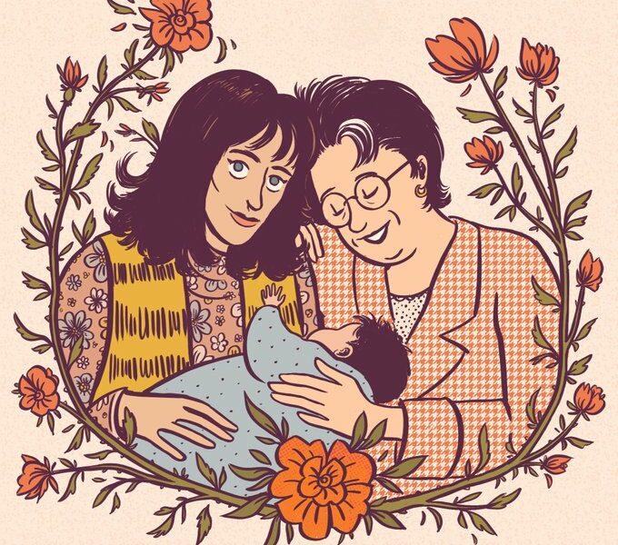 Hippie Trail, portrait de famille - illustration Elléa Bird
