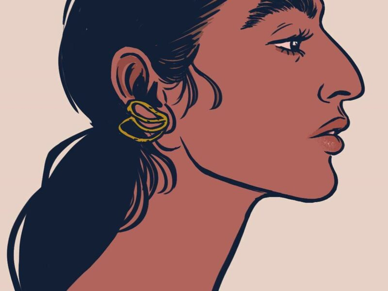 Aoife Lou, portrait study. Illustration : Elléa Bird