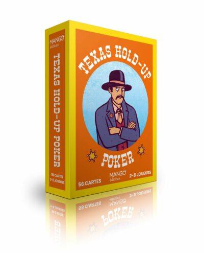 Jeu de cartes Texas Holdup Poker, illustrations par Elléa Bird, aux éditions Mango