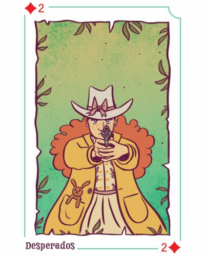 Carte Texas Poker, éditions Mango - Illustration par Elléa Bird